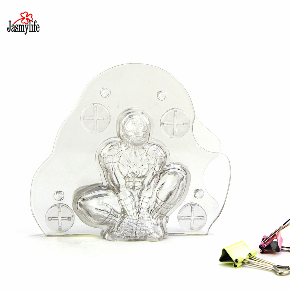 Bakeware Alert Handmade Plastic 3d Spiderman Chocolate Mold Stereo Spider Man Cake Mold Candy Jelly Mold Baking Pastry Cake Decorating Tools Baking & Pastry Tools