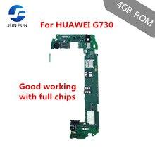 Jun diversão 1gb ram 4gb rom para huawei g730 u00 3g suporte placa mãe desbloqueado placa de lógica emui com chips completos