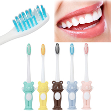 Y&W&F 1PC New Toothbrush Soft Head Nylon Bristle Brush Care Toothbrush Child Baby Toothbrush Training Cute Bear Shape 14.3cm