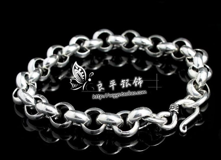 Thai silver bracelet 925 pure silver hand jewelry vintage thai silver male women's bracelet birthday gift