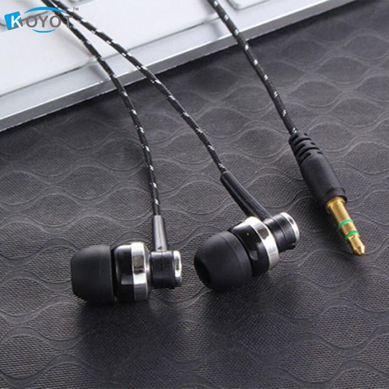 MP3 MP4 Wiring Subwoofer Headset Ear Braided Rope Wire Cloth Rope Earplug Noise Isolating Earphone Handfree