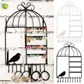 DIY Hanging Jewelry Organizer Hanger Black White Metal Wall Jewelry Display Hang Stand For Necklace Ring Bracelet 20 Hooks
