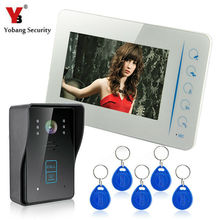 YobangSecurity Video Door phone Doorbell 7 Inches Video Door Entry System with Key 1 Camera & 1 Monitor