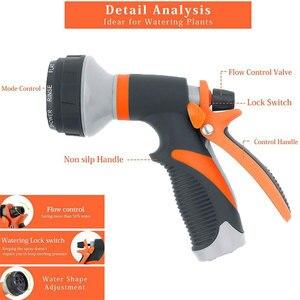 Image 5 - 8 wzór pistolet ogrodowy wąż dysza gospodarstwa domowego myjnia samochodowa Yard zraszacz wody wąż ogrodowy dysza posypać narzędzia
