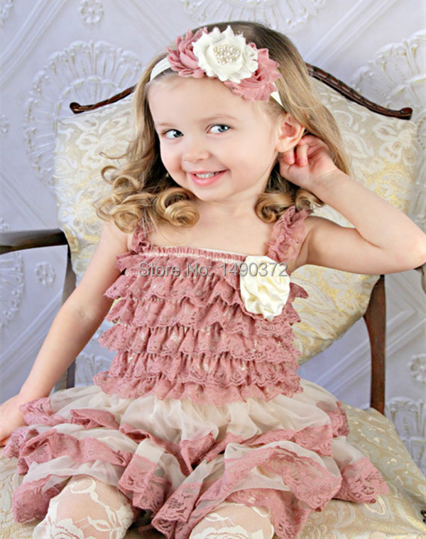 Vintage lace petti dress