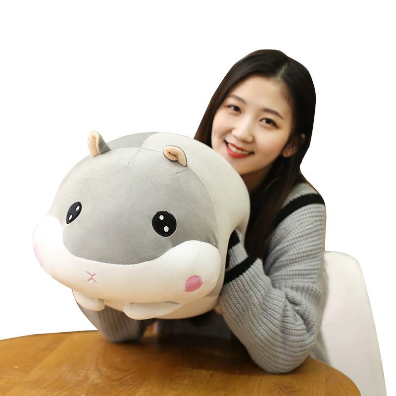 1PC 45cm Cute Hamster Mouse Plush Pillow Stuffed Soft Animal Hamtaro Toys Dolls Kawaii Christmas Gift for Girls Kids Children 70cm kawaii big head panda plush toys stuffed soft animal pillow cute bear gift for children kids baby girls birthday gift