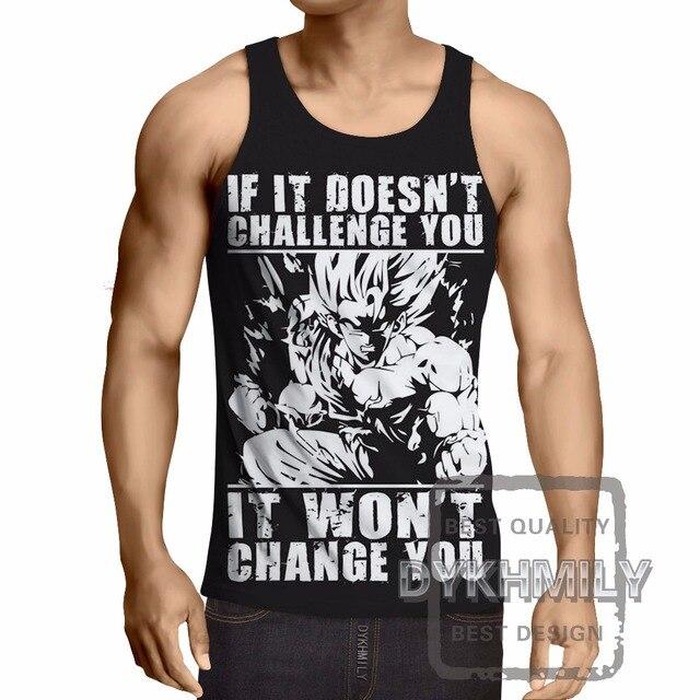 Dragon Ball Z Mens Fitness Sleeveless Tank Top