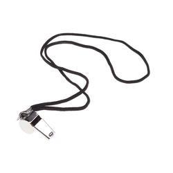 1 х металлический рефери свистки тренера свистки с шнурком для футбольных тренеров и официальных лиц