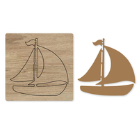New Sailboat Frame Wood Dies Cut Mold Accessories for DIY Paper,Leather,Felt, Steel Punch Crafts Photo Card Scrapbooking Decor