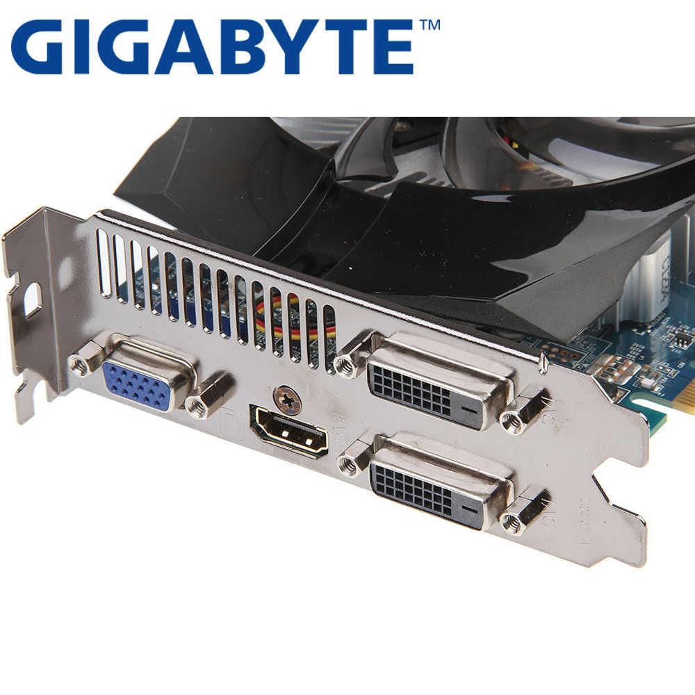 ギガバイトビデオカードオリジナル GTX650 1 ギガバイト 128Bit GDDR5 グラフィックスカード nvidia の Geforce GTX 650 Hdmi Dvi 使用 VGA カード販売