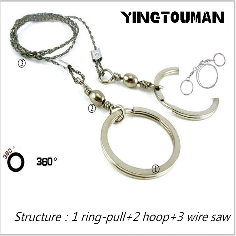 YINGTOUMAN Camping Saws Portable Outdoor Steel Wire Saw Emergency Survival Gear Steel for Camping Hiking Hunting Climbing Gear