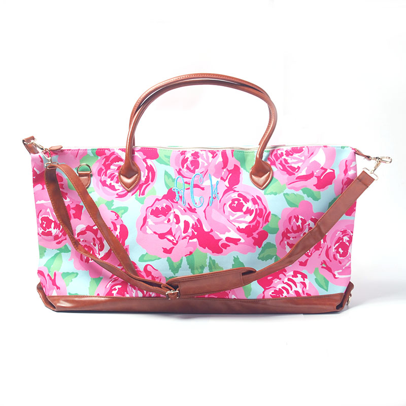 Wholesale and Retail Blanks Three Designs Southern Women Fashion Duffel Bag Perfect Personalize Canvas Overnight Weekend Bag