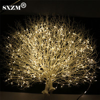DC12V 1.5M 400leds Firecracker String Lights power adapter 24Key remote controller Starry Light Decoration Xmas Party