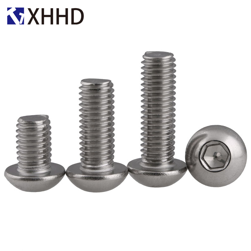 304 Stainless Steel Hex Button Head Socket Cap Screw Metric Thread Round Head Allen Mushroom Hexagon Machine Bolt M5 M6 M8304 Stainless Steel Hex Button Head Socket Cap Screw Metric Thread Round Head Allen Mushroom Hexagon Machine Bolt M5 M6 M8
