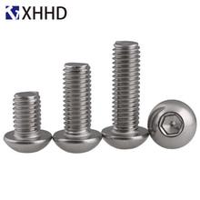 304 Stainless Steel Hex Button Head Socket Cap Screw Metric Thread Round Allen Mushroom Hexagon Machine Bolt M5 M6 M8