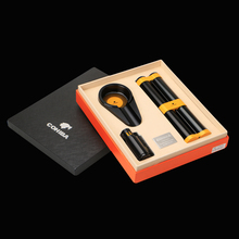 COHIBA Business Gifts Black Metal Windproof 3 Torch Jet Flam