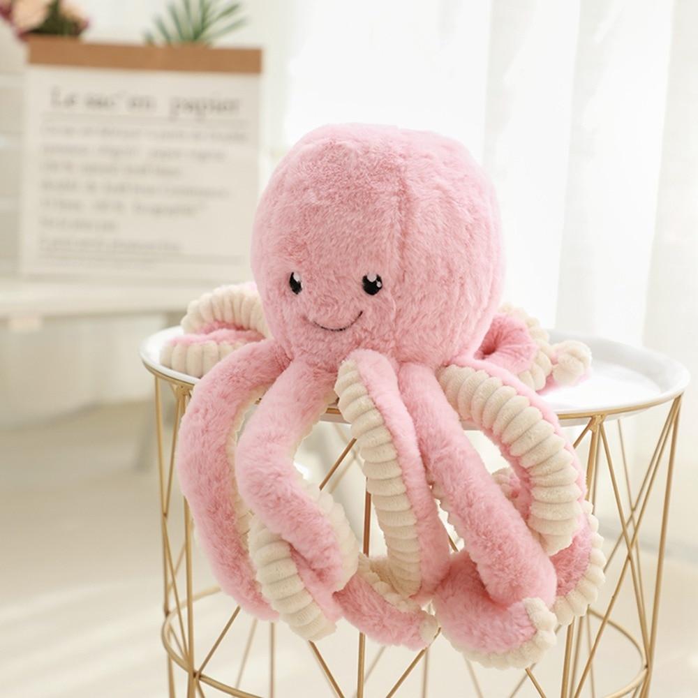 Plush Animal 18 40 60 80cm Giant Big Octopus Plush Toys Doll Kawaii Room Soft Kawaii Plush Long Pillow Food Plush Kid Sofa Pink in Stuffed Plush Animals from Toys Hobbies