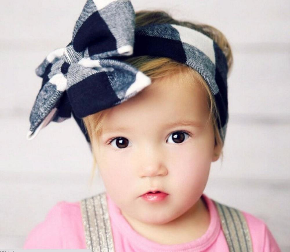a6985976bf6 Fashion Baby Girls Headwraps Top Knot Solid color big Bow Headband Children  Infants DIY Headwear Turban Girl Hair Accessories