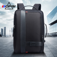 BOPAI Male Bags Fashion USB Charging Backpack for Men Business Travel 15.6 Inch Computer Backpack Men's Casual Working Daypacks