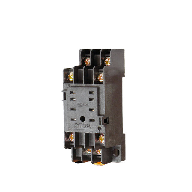 1PCS PYF08A 70*21*25mm Black Power Relays Socket Base DIN Rail 8 PIN on car relay wiring, horn relay wiring, control relay wiring, ac relay wiring,