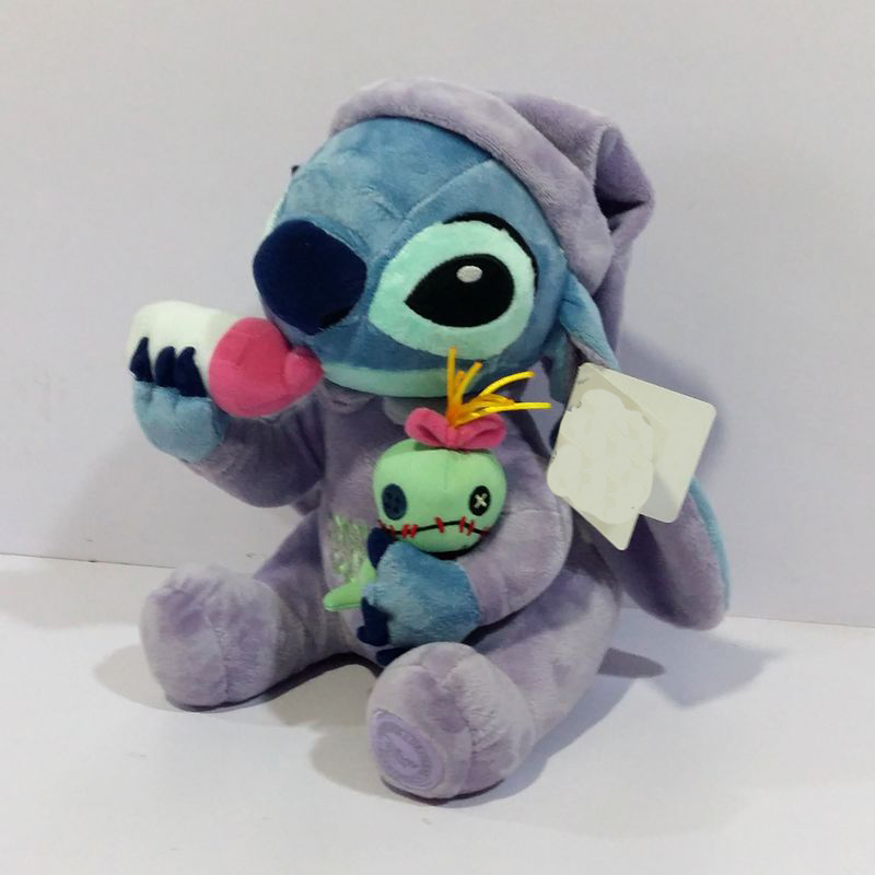 Lilo Stitch Plush Toys Plush Toys StiTch Holding Scrump Stuffed Animal Dolls 26 CM Children Soft Toys Gift 38cm plush whales toys with soft pp cotton creative stuffed animal dolls cute whales toys fish birthday gift for children