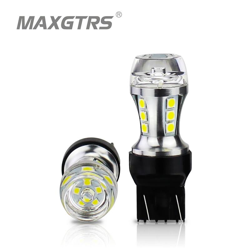 MAXGTRS 2xT20 LED 7443 W21/5W 580 led Bulb Car led light DRL 3030 SMD Auto Lamp 12V Brake Lights Turn Signal White Amber Red icoco 12v led car auto drl fog lights headlight lamp bulb 2pcs hid white high power 9004 hb1 2835 smd