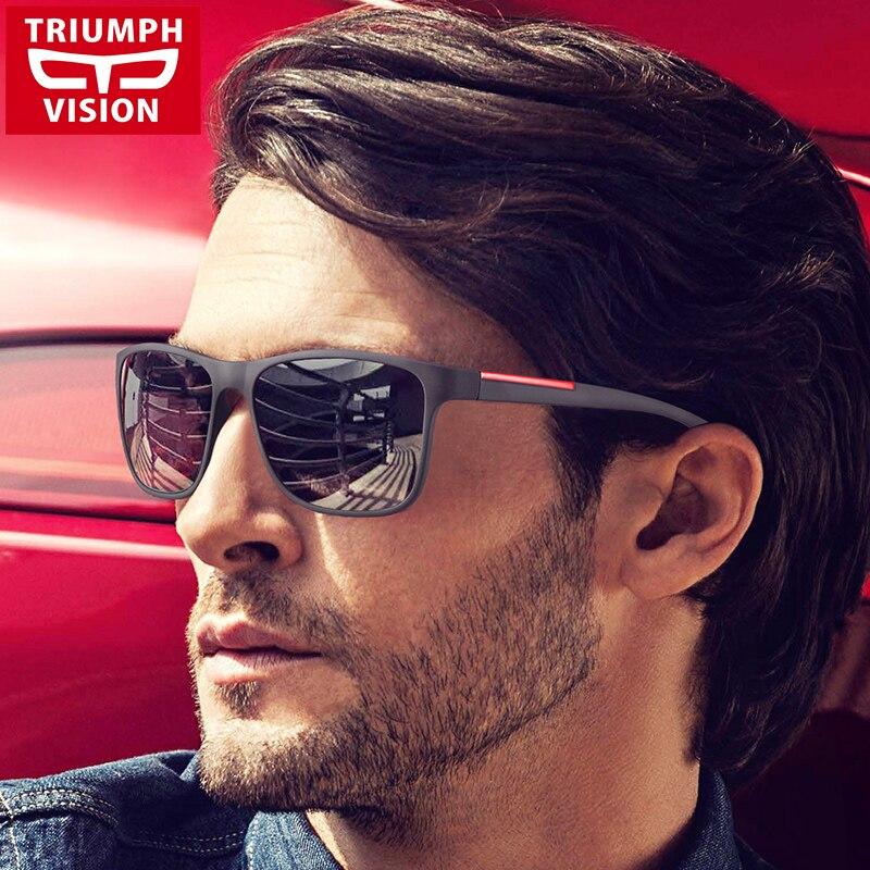 18de87010d4 TRIUMPH VISION Black Square Sun Glasses For Men Gradient UV400 Sunglasses  Men Brand Designer 2017 New Oculos Shades Male Fashion