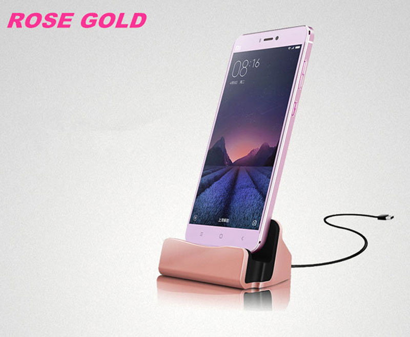 JIATEXIN Desktop Data Sync Type-C USB Cable Dock Charger Station For ZTE  Axon M/Blade Z Max Z982 Type-C USB Charging Dock