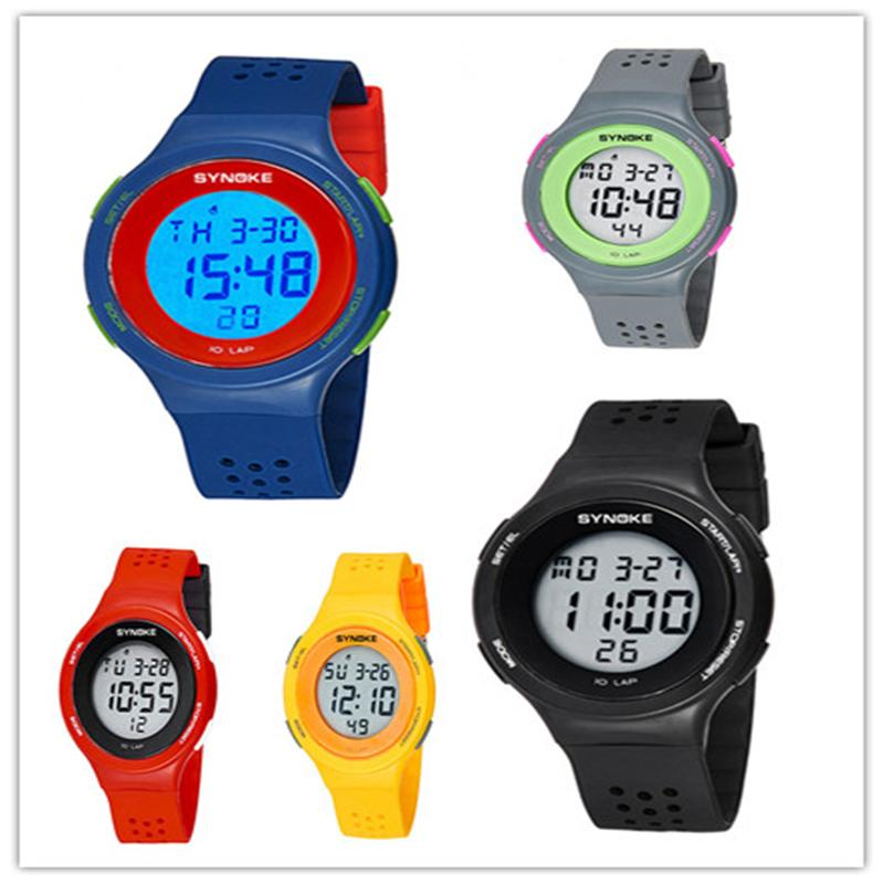 NEW LED Multifunction Waterproof Girl s Boy s Sports Electronic Digital Wristwatches