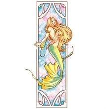 Paquet de broderie Kits de point de croix Unopen nouveau luxueux sirène jaune livraison gratuite
