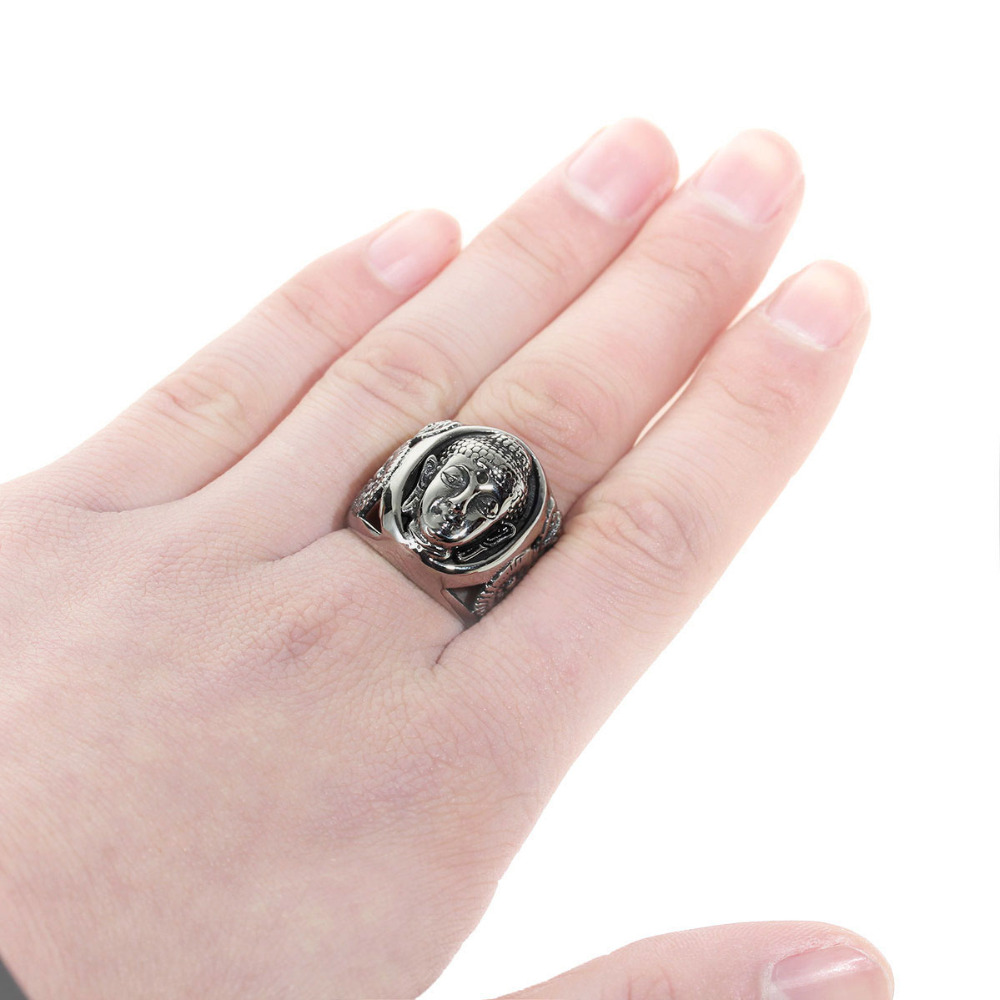 DoreenBeads Buddhism Vintage Ring Men Stainless Steel Jewelry ...