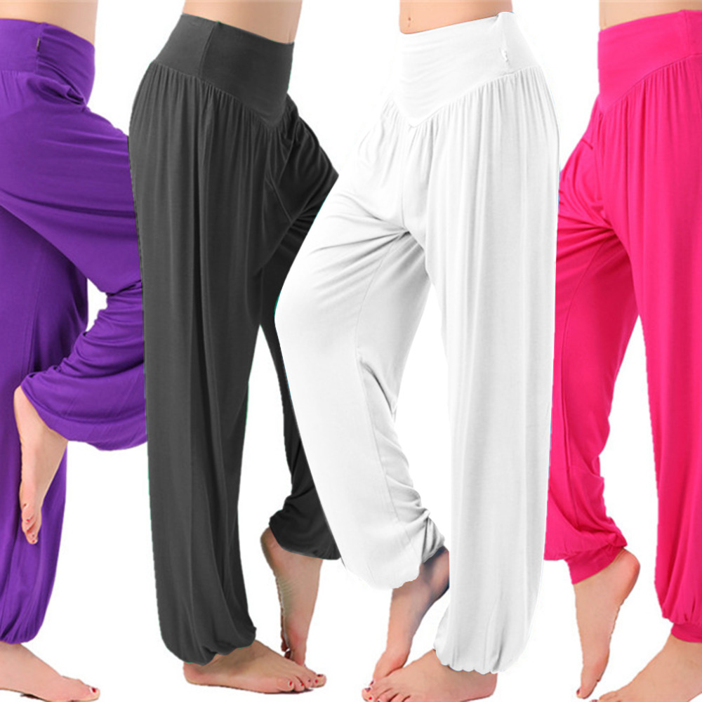 2cc350220fa New S XL plus size High waist Women Dancing Trouser autumn women sport yoga  pants Super Soft Light Loose Lantern Pants-in Yoga Pants from Sports ...