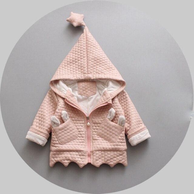 Осень Зима Baby Дети Девушки Младенцы Дети С Капюшоном Принцесса Кардиган Пальто Куртки Outwears Рождественский Подарок Roupas Casaco S3990