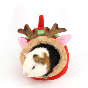 Cute Soft Plush Hamster Bed Guinea Pig House Cage Warm Nest Mouse Rat Nest Bed Small Pets Products