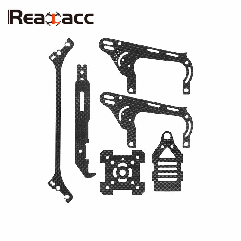 Realacc Real1 Frame Kits Carbon Fiber Parts Arm Side Plate Bottom Upper Board For RC Camera Drone FPV Racing Accs