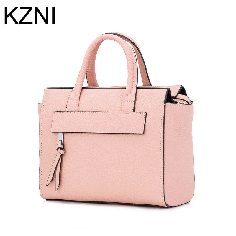 ФОТО KZNI women genuine leather  ladies hand bags handbags women crossbody bag bolsas femininas bolsas de marcas famosas L030858