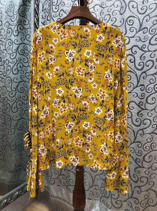 Au Noir Motif Début Nouvelles À Décoration Broderie Européen Manches Jacket110 Femmes Et Américain Longues 2019 Porter Printemps De V Épine jaune Du dpxdRq