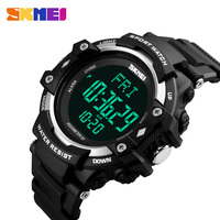 New SKMEI Horloges Mannen LED Digital Monitor Fitness Tracker Casual Sports Watches Pedometer Chronograph Back Light Men Watch