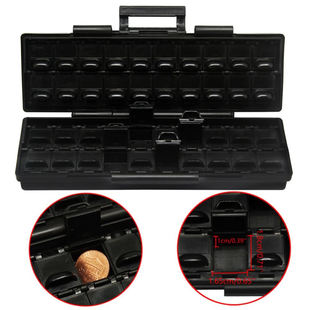 Aidetek Plastic Toolbox ESD Safe SMD Storage Parts Box W/40 Bins Anti-statics Box Organizer Black Small Box Resistor BOXALL40AS