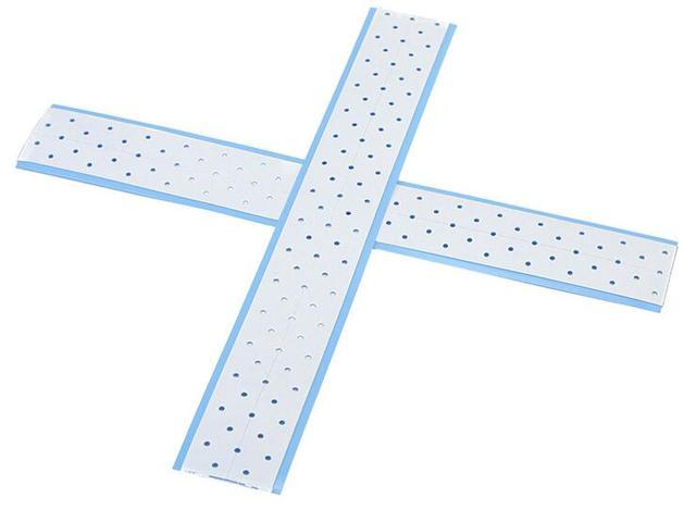 Walker extenda-bond más pestañas de cinta de doble cara con agujeros de respiración Adhesivo de revestimiento azul para pelucas frontales de encaje /pelucas 10 unids/lote