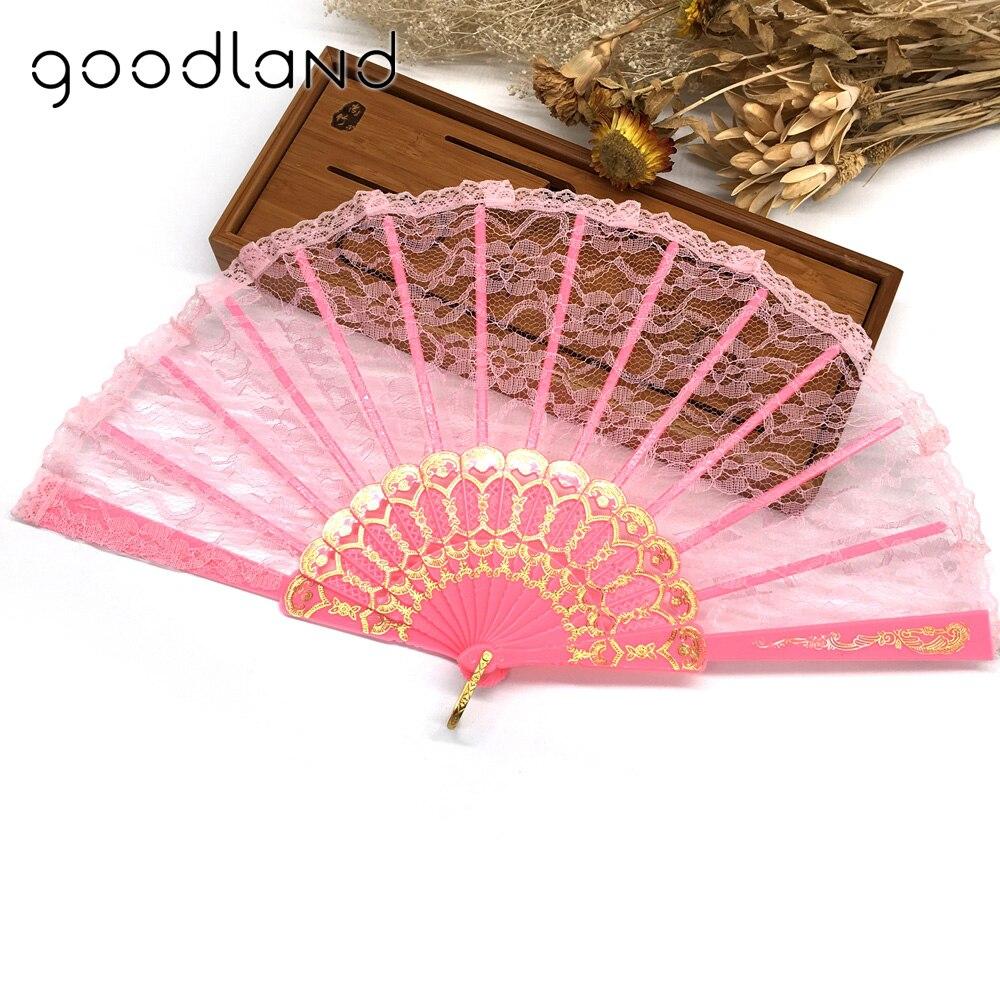 Wholesale Free Shipping 50pcs Spanish Hand Fan Flower Lace Fan Hand ...