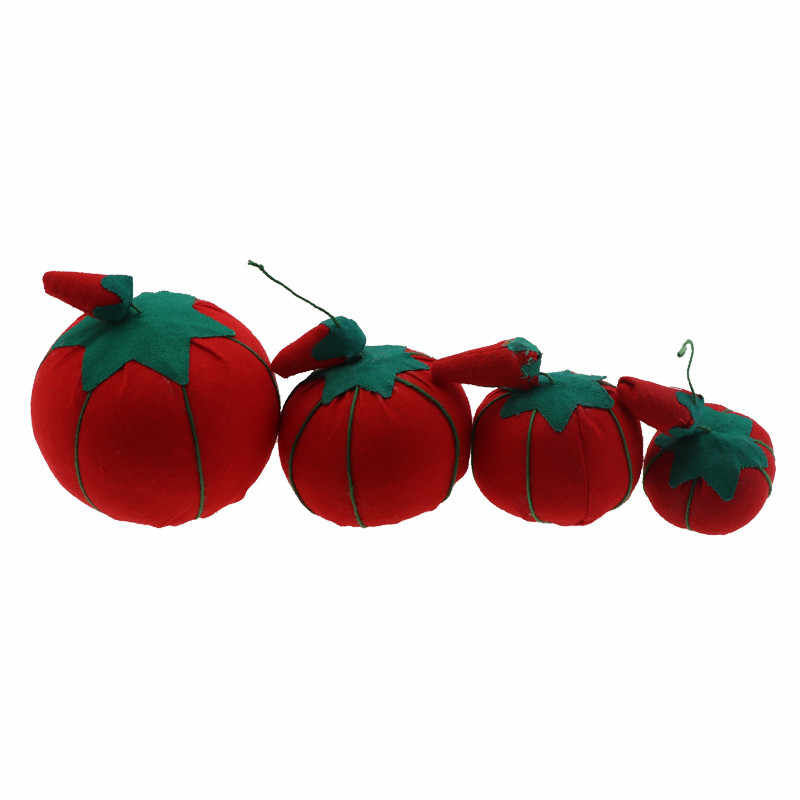 Cute Tomato Needle Pin Cushion Sewing Pincushion Cross Stitch Sewing Kit Pin Patchwork Holder DIY Handcraft Tailors Safety Tool