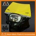 Amarelo Universal StreetFighter Faróis Farol Para Suzuki DR250 RMX250 RM85 RM125 RM250 RMZ250 RMZ450 Motocicleta Da Bicicleta Da Sujeira