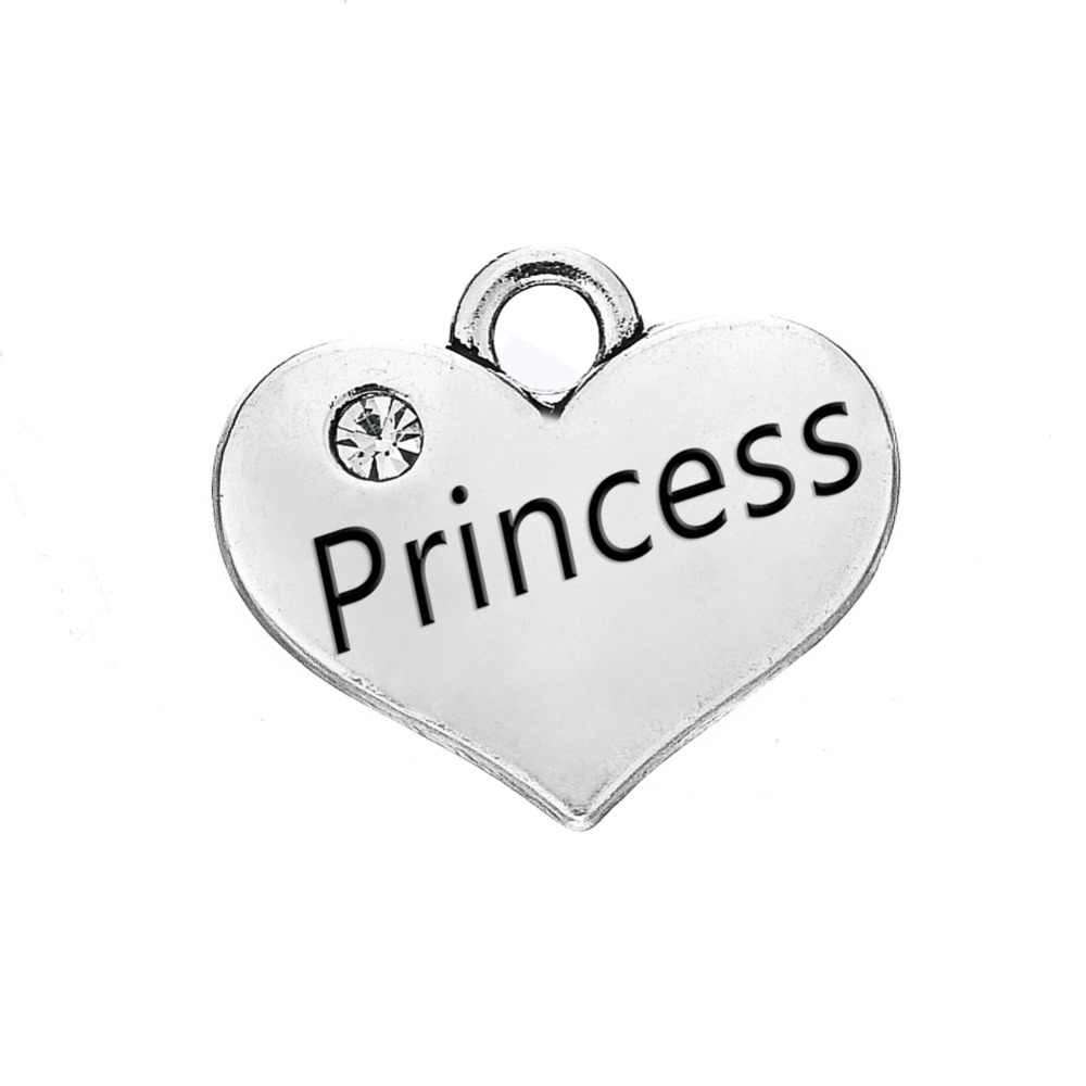 Skyrim, 10 шт., семейный Шарм в виде сердца с кристаллами, для сестры, принцессы, дочери, папы, маленькой девочки, для племяшки, слово «сделай сам», плавающая подвеска, ювелирное изделие