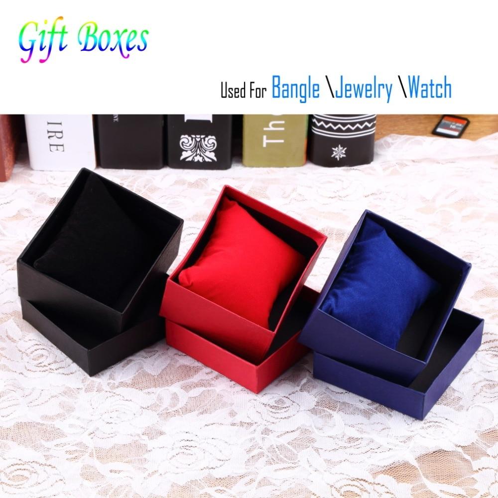 150 pièces Bracelet bijoux affichage support de montre avec tampon en mousse à l'intérieur présent boîte-cadeau pour Bracelet boîtes de montre et emballage