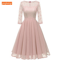 Fashion Pink Prom Dresses Women Party 2019 Lilac Short Prom Dress Chiffon Lace Zipper Knee Length Cheap Evening Banquet Gowns