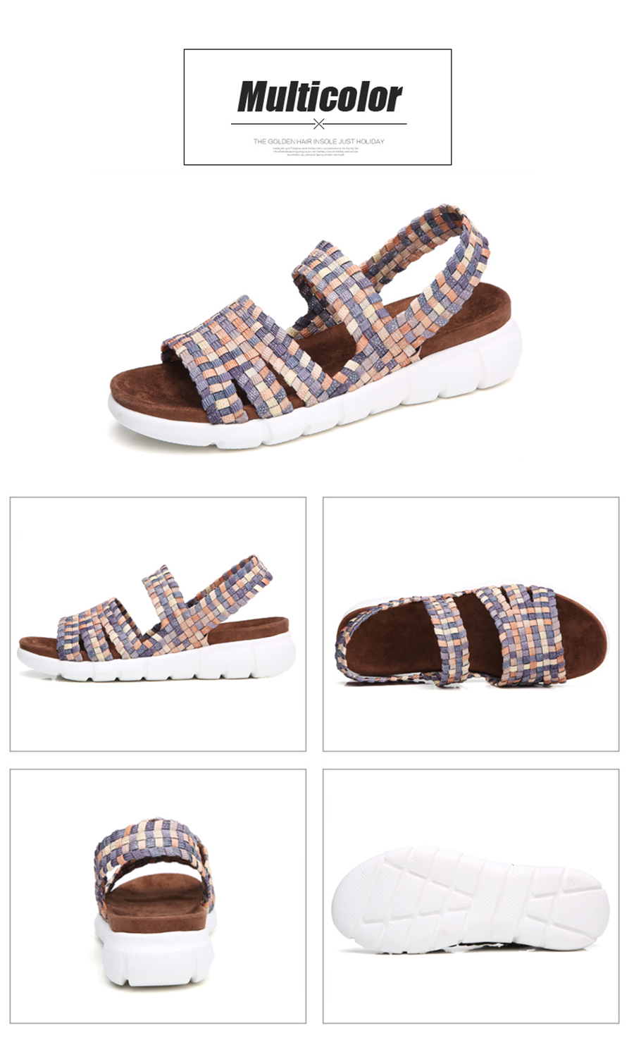 HTB1NDl8guuSBuNjy1Xcq6AYjFXaV STQ 2019 women flat sandals shoes women woven wedge sandals ladies beach summer slingback sandals flipflops jelly shoes 803