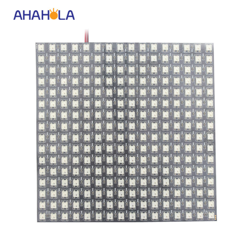 5v digital rgb full color16*16 pixel ws2811 ws2812 ws2812b flexible led panel,ws2811 ic built-in smd 5050 rgb chip