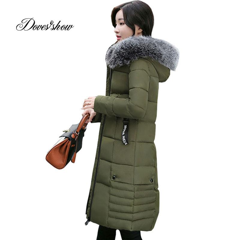 New Hooded Autumn Winter Down Coat Jacket Long Warm Slim Women Casaco Feminino Abrigos Mujer Invierno 2018 Parkas Outwear Coats