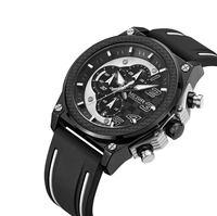Megir Top Marke Hohl Automatische Mechanische Uhren Männer Luxus Marke Leder Casual Vintage Skeleton Uhr Relogio Masculino